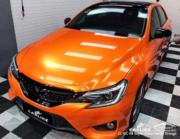 CARLIKE CL-GC-08 vinilo anaranjado del abrigo del coche del caramelo estupendo del lustre para Toyota