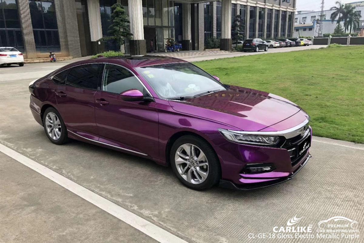 CARLIKE CL-GE-18 gloss electro metallic purple car wrap vinyl for Honda
