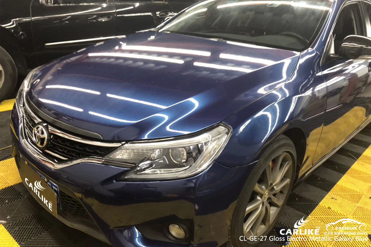 CARLIKE CL-GE-27 gloss electro metallic galaxy blue car wrap vinyl for Toyota