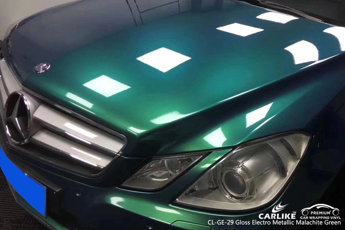 CARLIKE CL-GE-29 gloss electro metallic malachite green car wrap vinyl for Mercedes-Benz