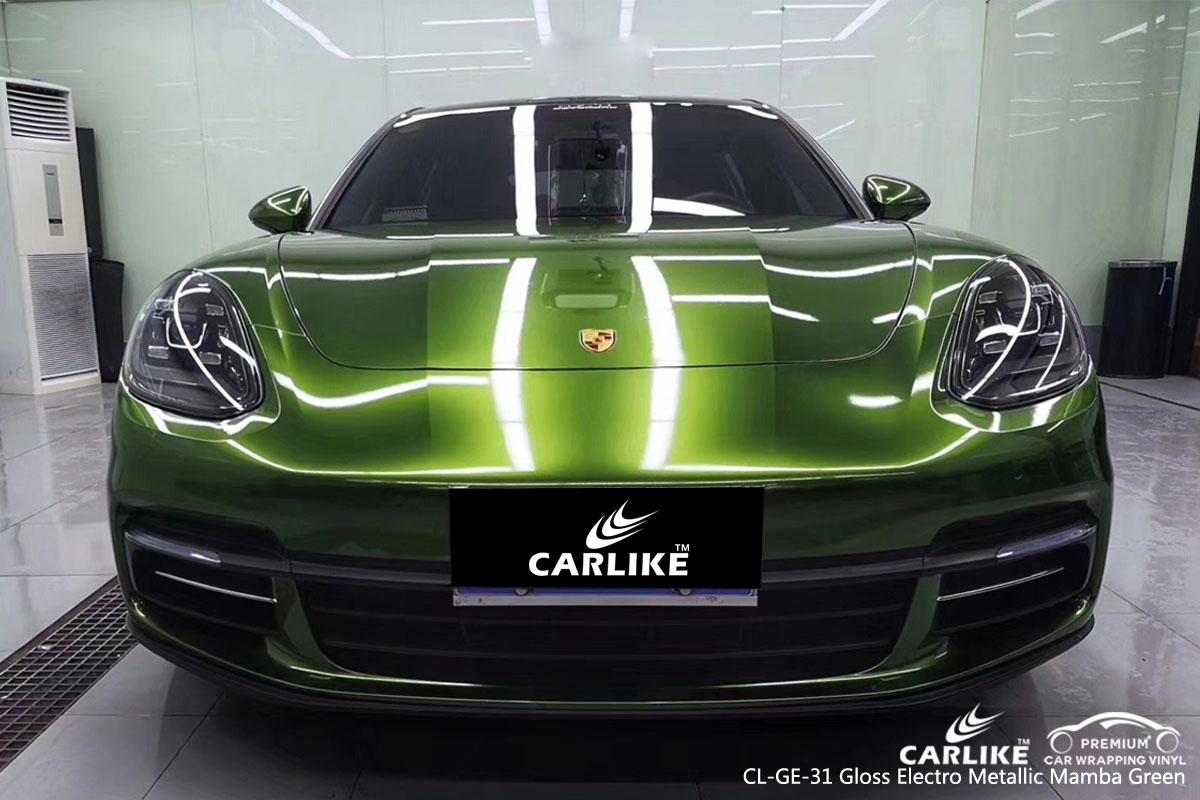 Cl Ge 31 Gloss Electro Metallic Mamba Green Car Wrap Vinyl