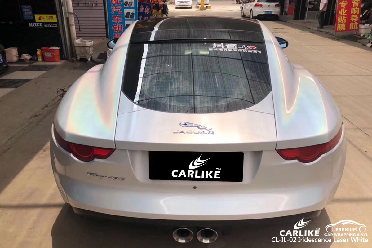 CARLIKE CL-IL-02 iridescence laser white car wrapping vinyl for Jaguar