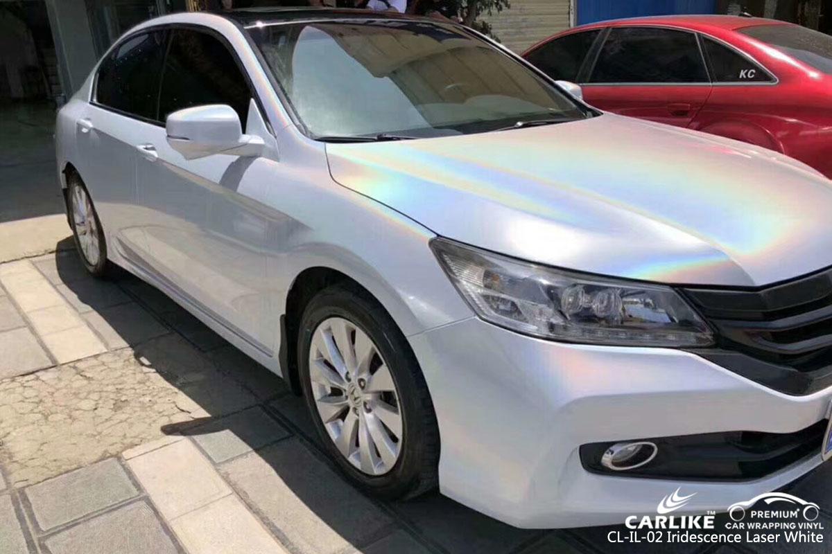 CARLIKE CL-IL-02 iridescence laser white car wrap vinyl for Honda