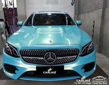 CL-MC-02 سحر المرجان السماء الزرقاء سيارة التفاف الفينيل لمرسيدس بنز