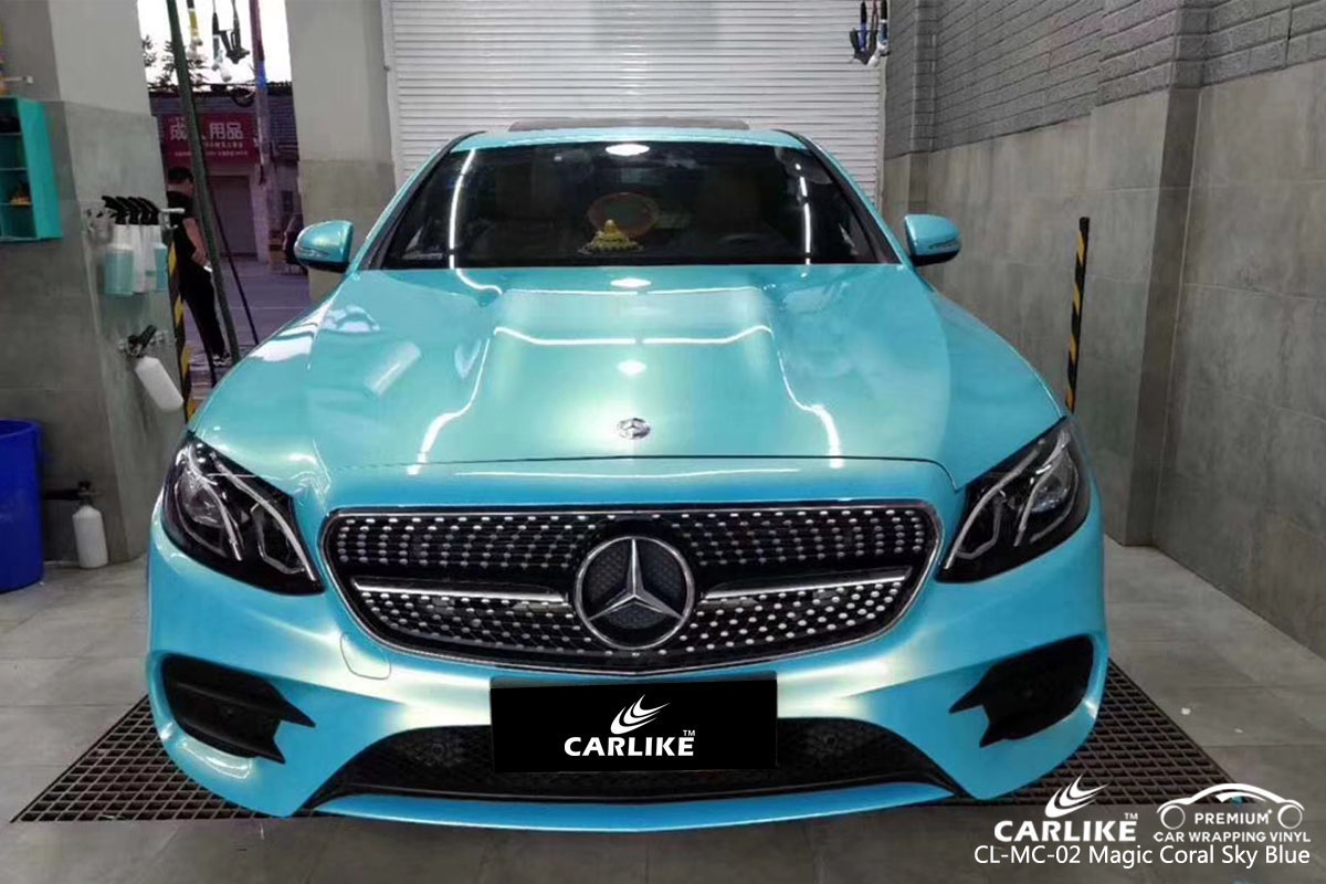 CARLIKE CL-MC-02 magic coral sky blue car wrapping vinyl for Mercedes-Benz