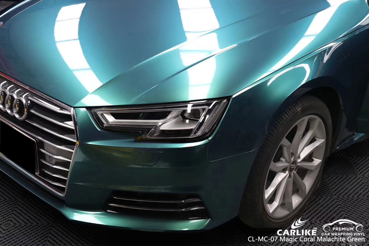 CARLIKE CL-MC-07 magic coral malachite green car wrap vinyl for Audi