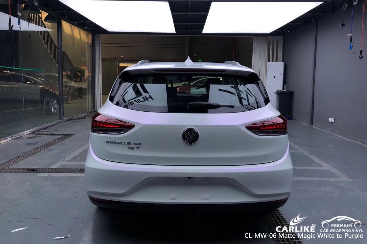 CARLIKE CL-MW-06 matte magic white to purple car wrap vinyl for Buick