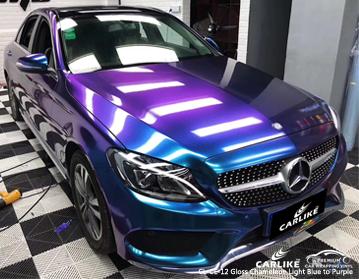 CARLIKE CL-CE-12 глянцевый хамелеон от светло-голубого до фиолетового автомобиля винил для Mercedes-Benz