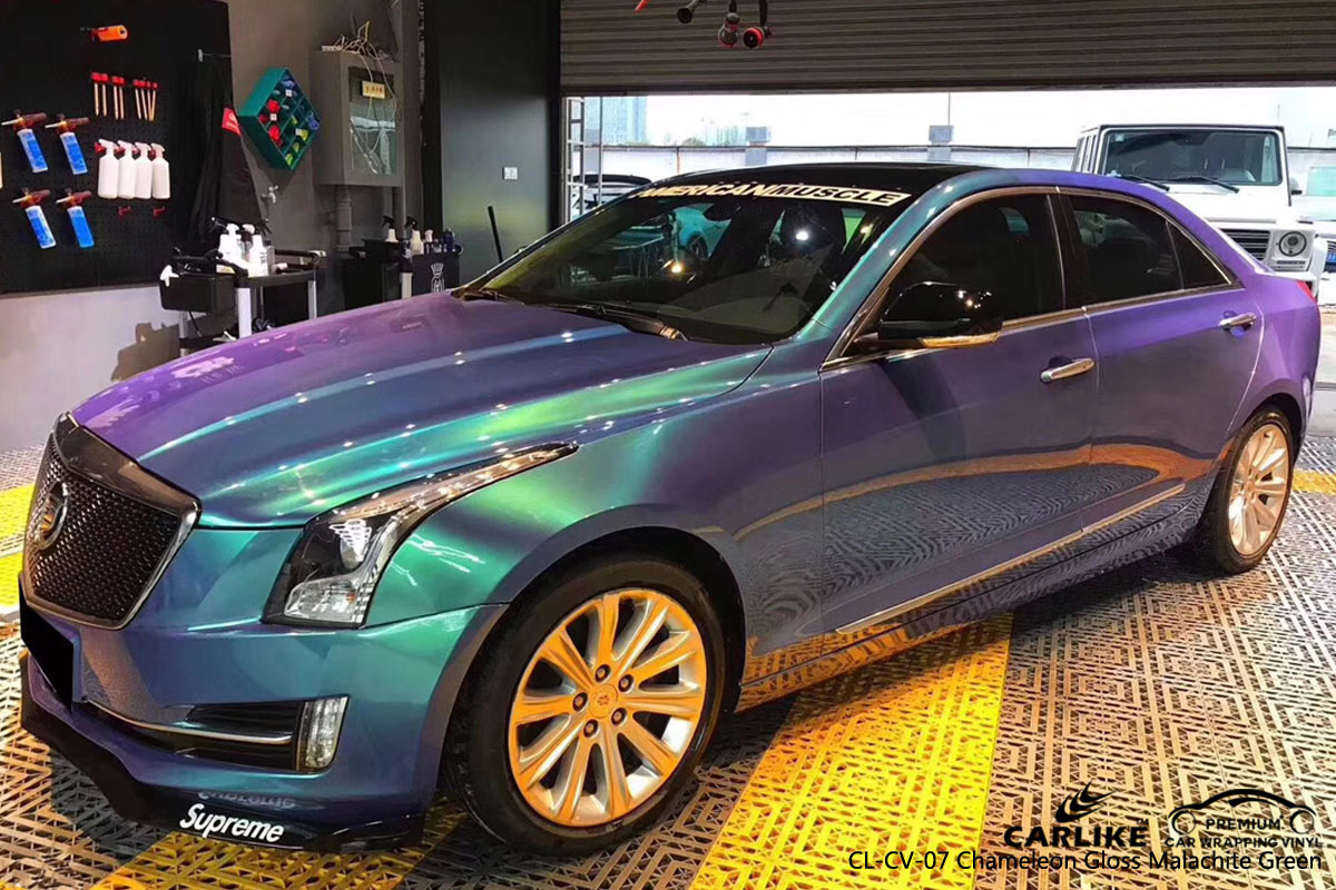 CARLIKE CL-CV-07 chameleon gloss malachite green car wrap vinyl for Cadillac
