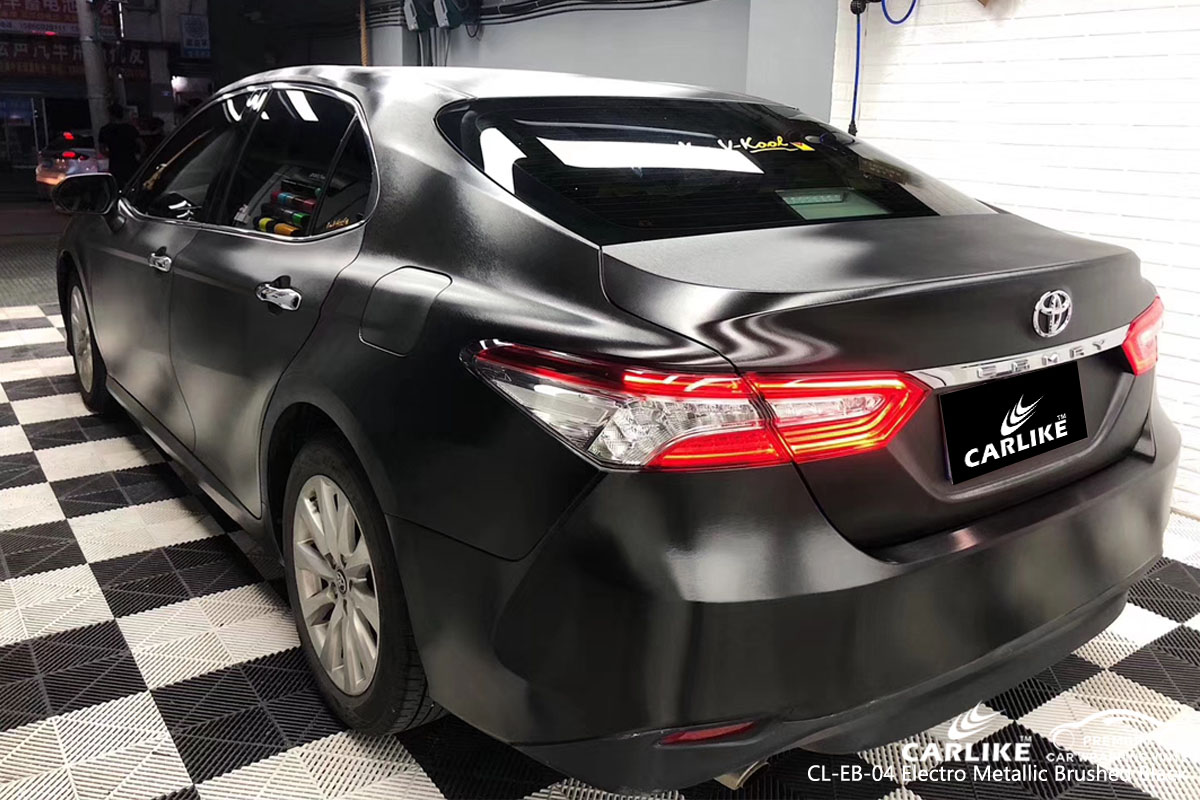 CARLIKE CL-EB-04 electro metallic brushed black car wrap vinyl for Toyota