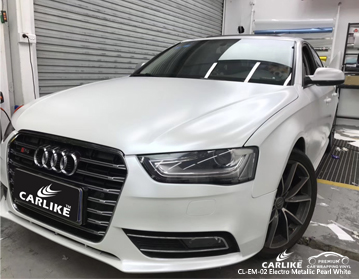 CARLIKE CL-EM-02 electro metallic pearl white car wrap vinyl for Audi