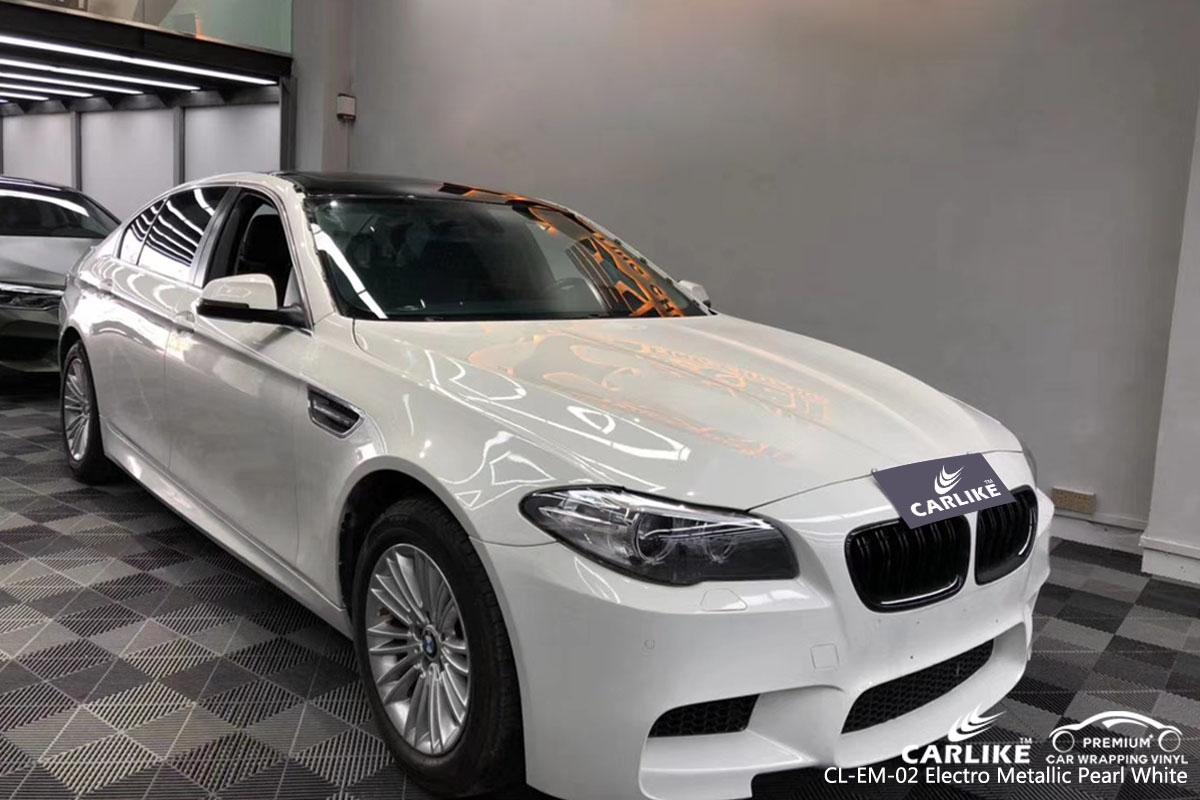 CARLILE CL-EM-02 electro metallic pearl white car wrap vinyl for BMW