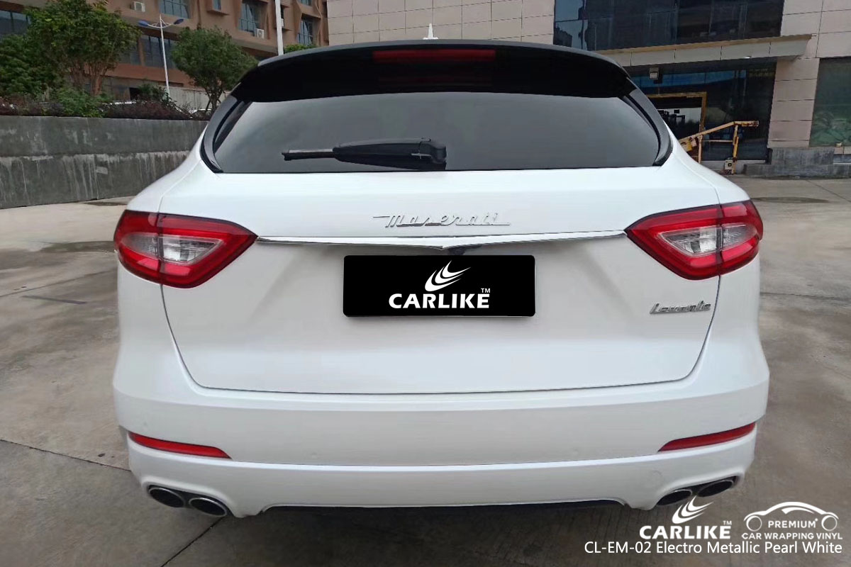 CARLIKE CL-EM-02 electro metallic pearl white car wrap vinyl for Maserati