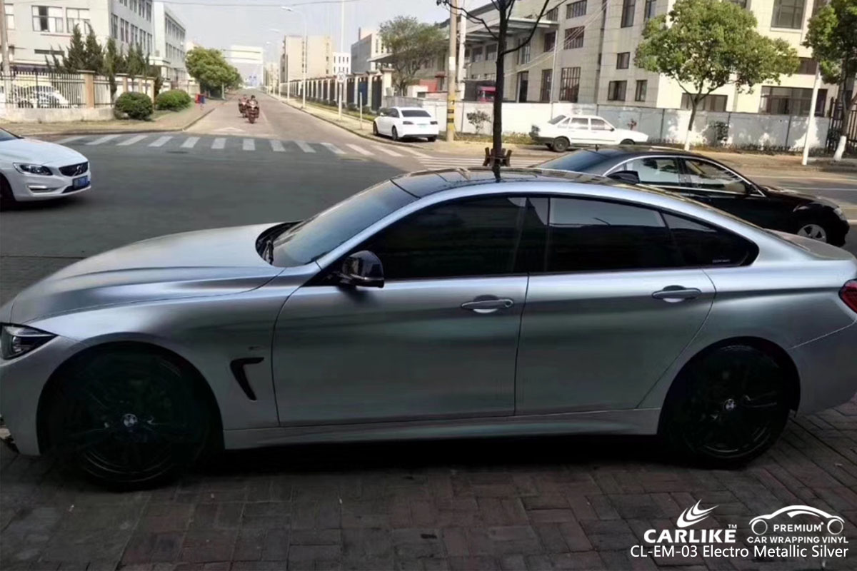 CARLIKE CL-EM-03 electro metallic silver car wrap vinyl for BMW