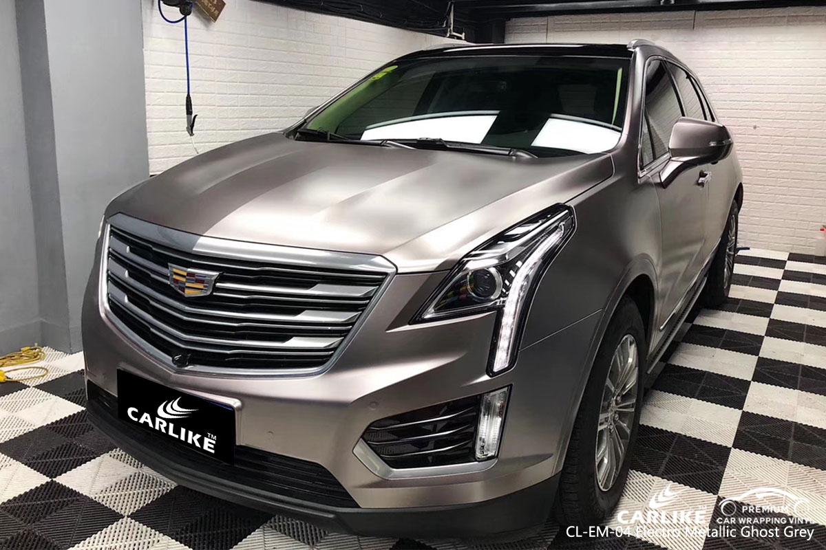 CARLIKE CL-EM-04 electro metallic ghost grey car wrap vinyl for Cadillac
