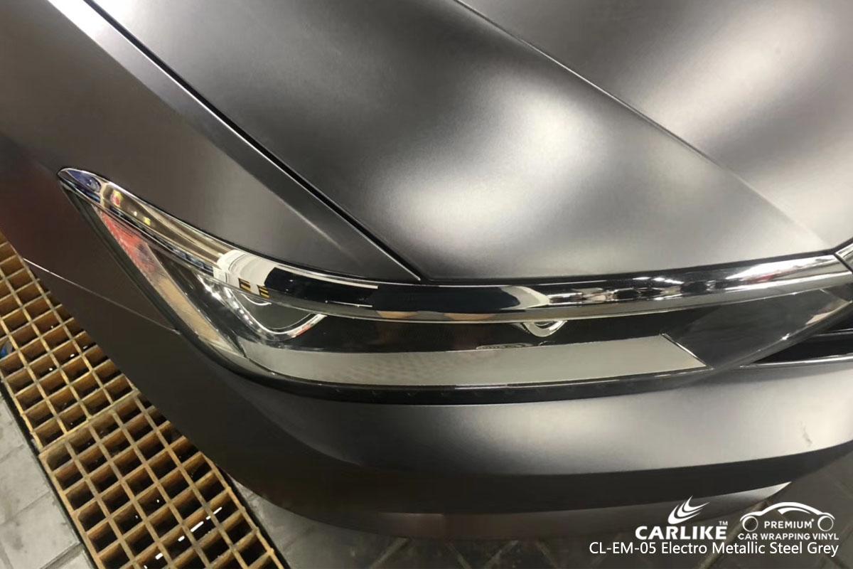 CARLIKE CL-EM-05 electro metallic steel green car wrap vinyl for Volkswagen