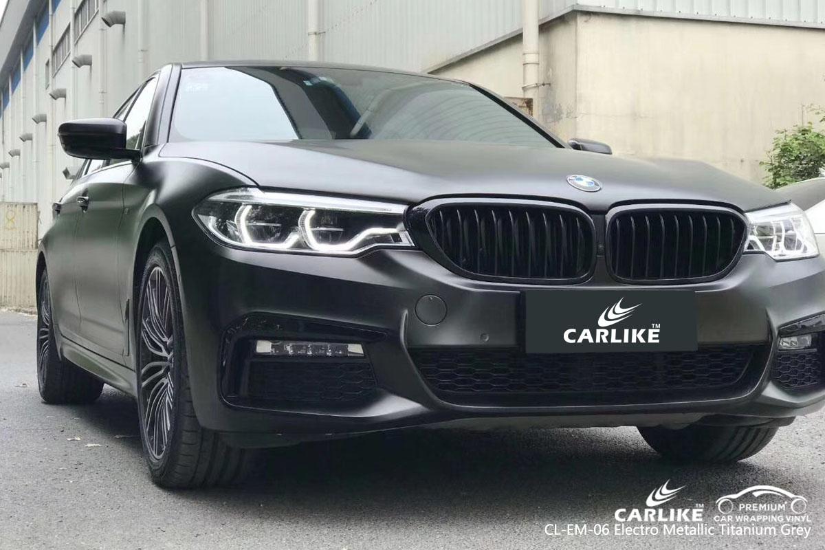 CARLIKE CL-EM-06 electro metallic titanium grey car wrap vinyl for BMW