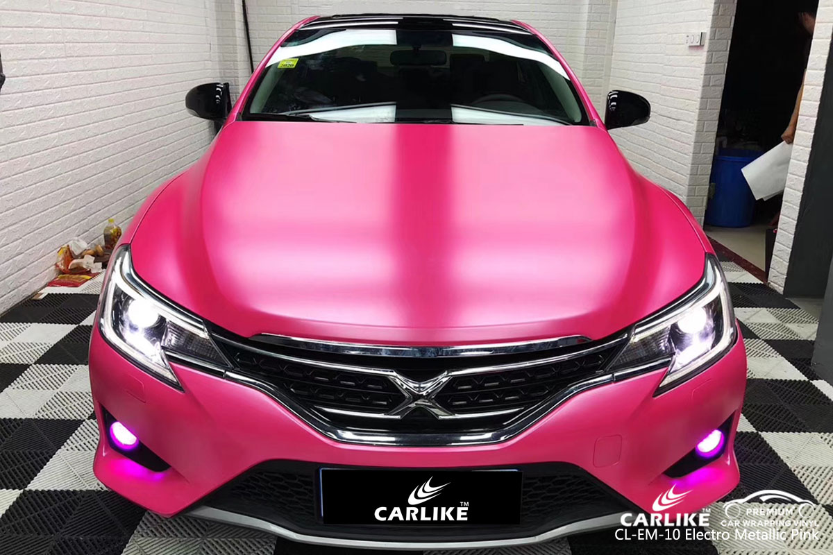 CARLIKE CL-EM-10 electro metallic pink car wrap vinyl for Toyota