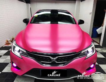 CARLIKE CL-EM-10 electro metallic pink car wrap vinyl for Toyota