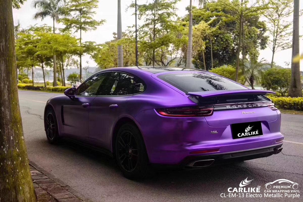 CARLIKE CL-EM-13 electro metallic purple car wrap vinyl for Porsche