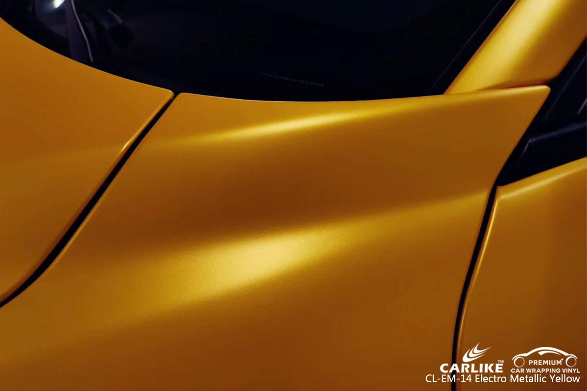CARLIKE CL-EM-14 electro metallic yellow car wrap vinyl for Alfa Romeo