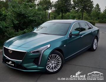CARLIKE CL-EM-21 electro metallic emerald green car wrap vinyl for Cadillac