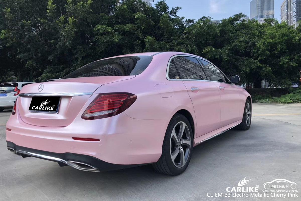 CARLIKE CL-EM-33 electro metallic cherry pink car wrap vinyl for Mercedes-Benz