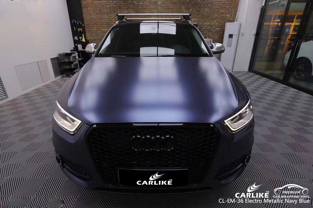CARLIKE CL-EM-36 electro metallic navy-blue car wrap vinyl for Audi
