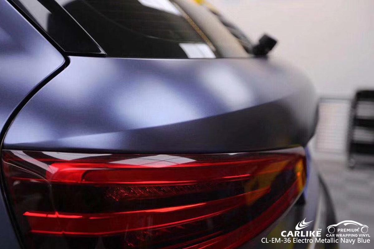 CARLIKE CL-EM-36 electro metallic navy-blue car wrap vinyl for Audi