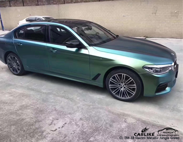 CARLIKE CL-EM-38 electro metallic jungle green car wrap vinyl for BMW