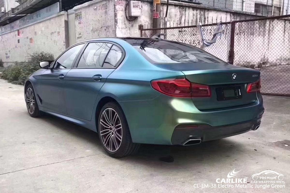 CARLIKE CL-EM-38 electro metallic jungle green car wrap vinyl for BMW