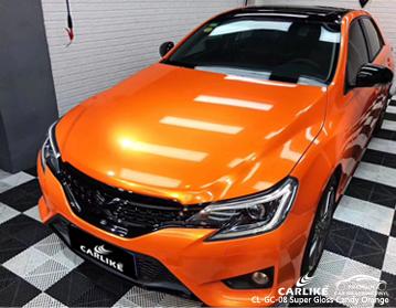 CARLIKE CL-GC-08 супер глянцевая конфета оранжевая автомобильная виниловая пленка для Toyota