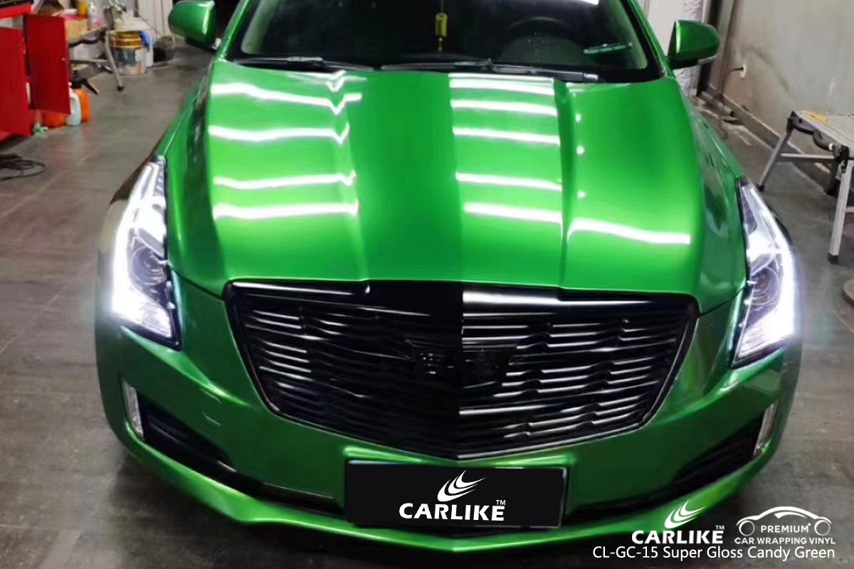 Carlike Cl Gc 15 Super Gloss Candy Green Car Wrap Vinyl