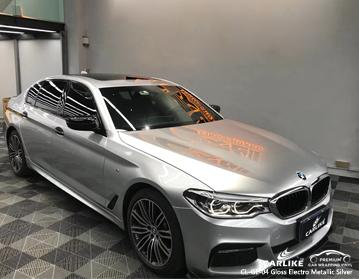CL-GE-04 vinile metallizzato argento metallizzato lucido per auto