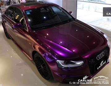 CARLIKE CL-GE-18 gloss electro metallic purple car wrap vinyl for Audi