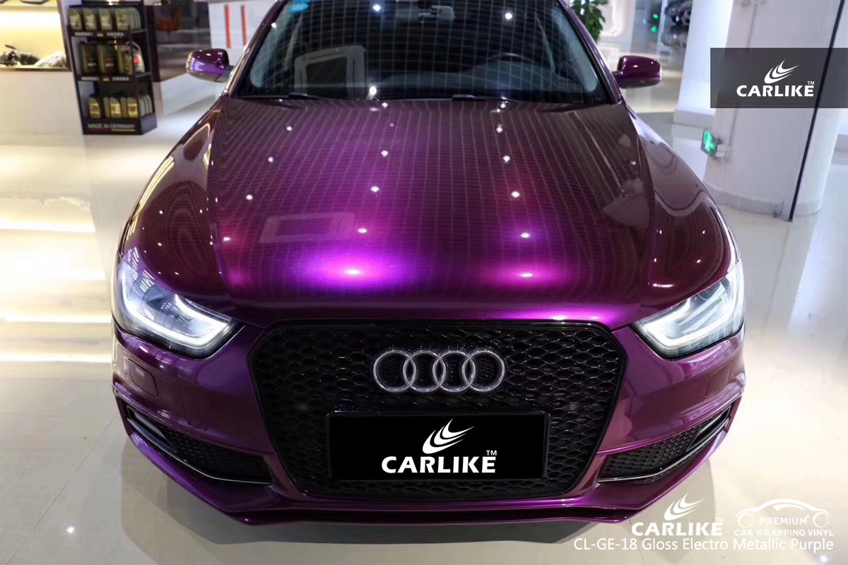 CARLIKE CL-GE-18 gloss electro metallic purple car wrap vinyl for Audi