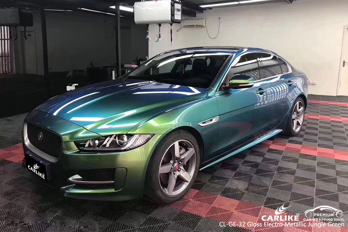 CARLIKE CL-GE-32 gloss electro metallic jungle green car wrap vinyl for Jaguar