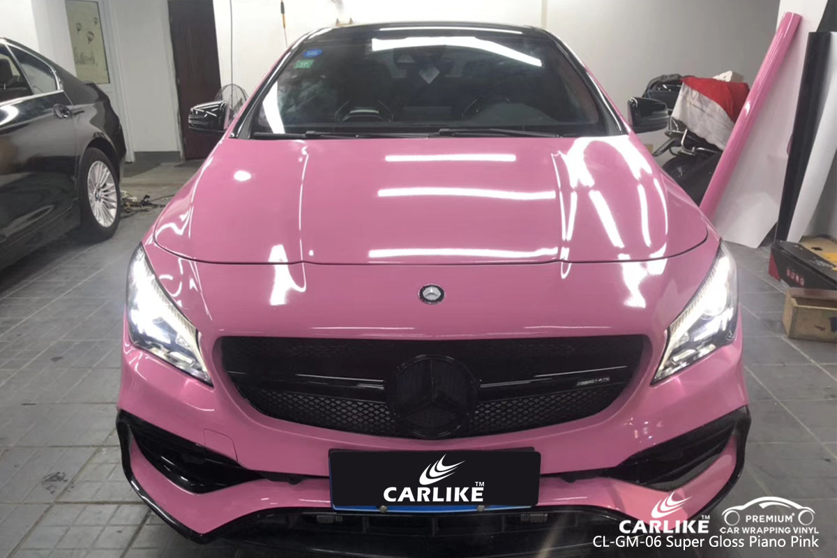 CARLIKE CL-GM-06 super gloss piano pink car wrap vinyl for Mercedes-Benz