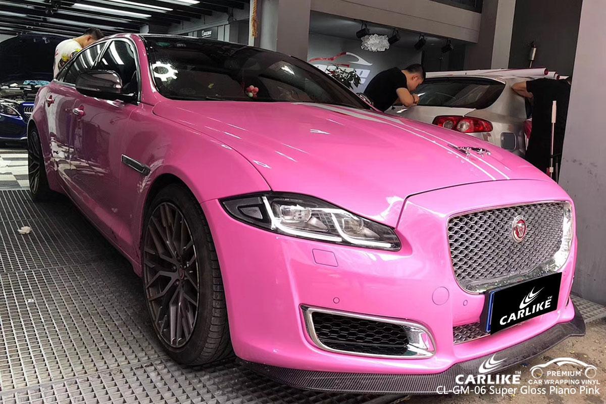 CARLIKE CL-GM-06 super gloss piano pink car wrap vinyl for Jaguar