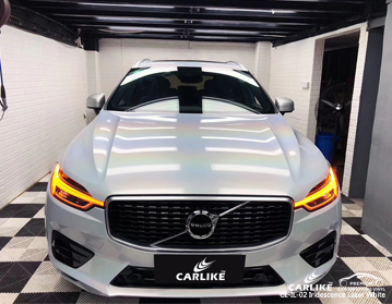 CARLIKE CL-IL-02 iridescence laser white car wrap vinyl for Volvo