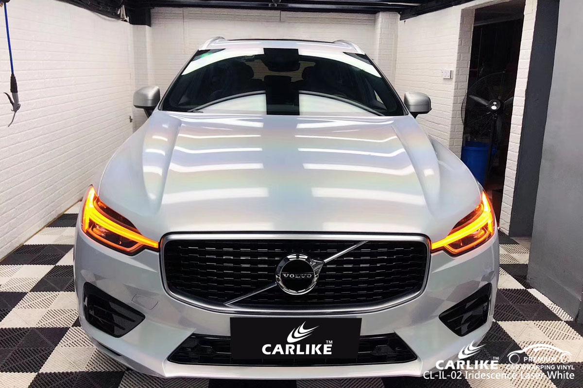 CARLIKE CL-IL-02 iridescence laser white car wrap vinyl for Volvo