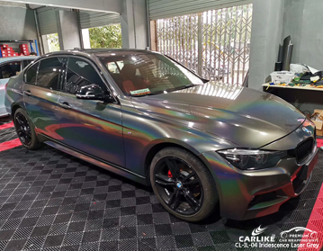 CARLIKE CL-IL-04 iridescent laser grey car wrap vinyl for BMW