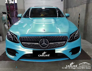 CARLIKE CL-MC-03 magic coral mint green car wrap vinyl for Mercedes-Benz