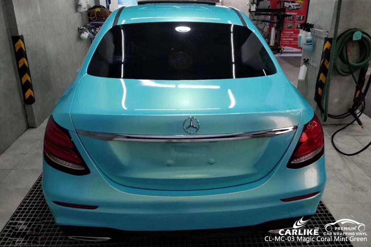 CARLIKE CL-MC-03 magic coral mint green car wrap vinyl for Mercedes-Benz