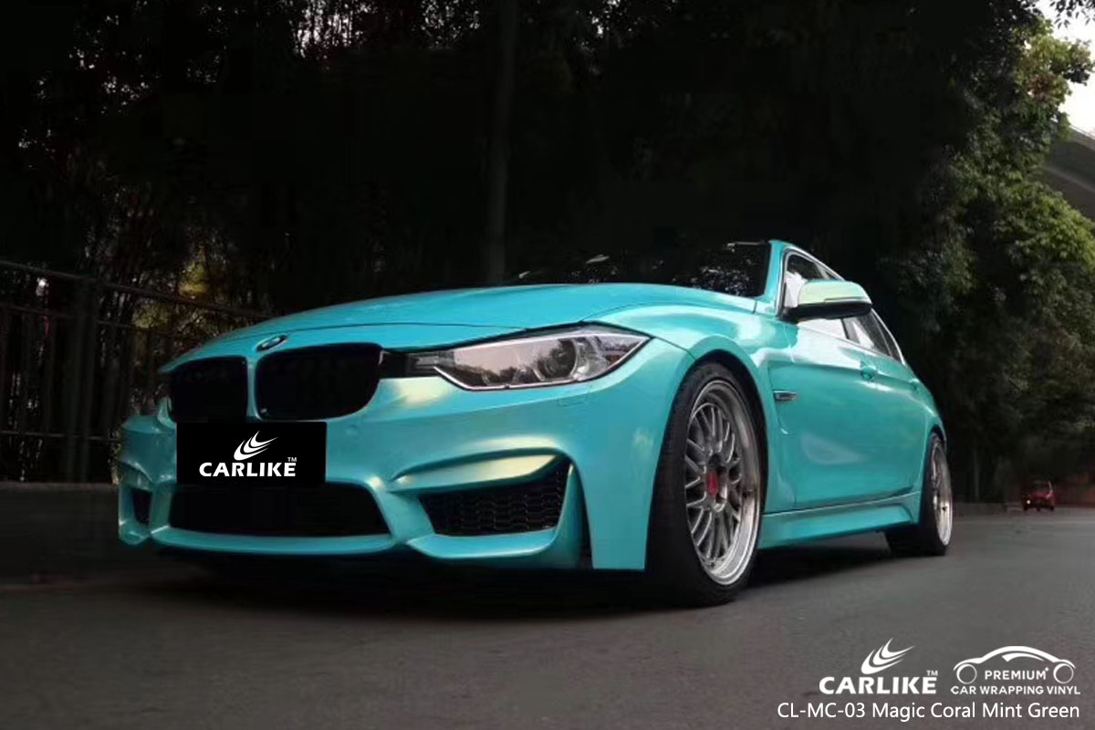 CARLIKE CL-MC-03 magic coral mint green car wrap vinyl for BMW