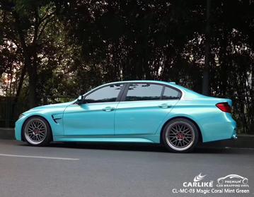 CL-MC-03 vinile avvolgente per auto verde corallo magico per BMW