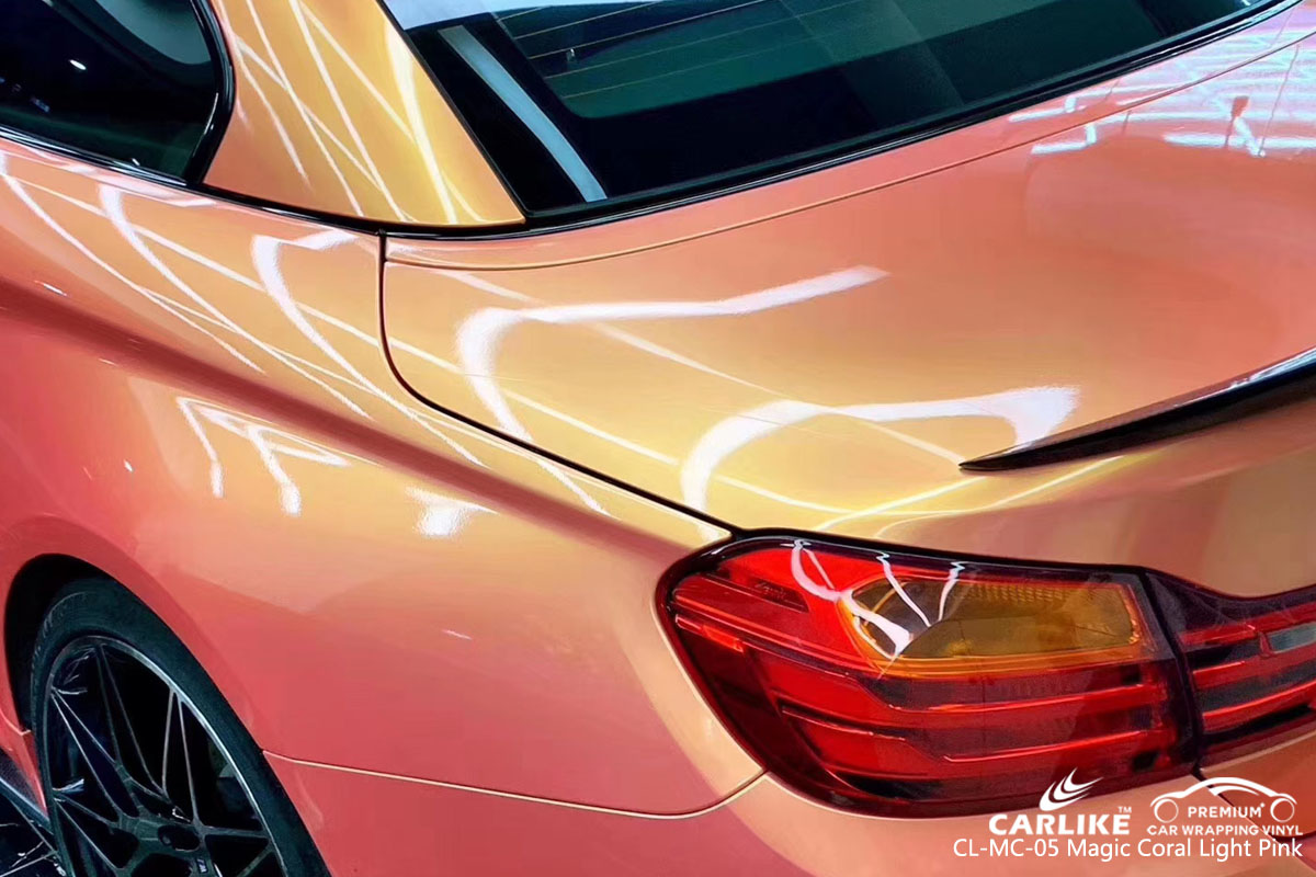 CARLIKE CL-MS-05 magic coral light pink car wrap vinyl for BMW