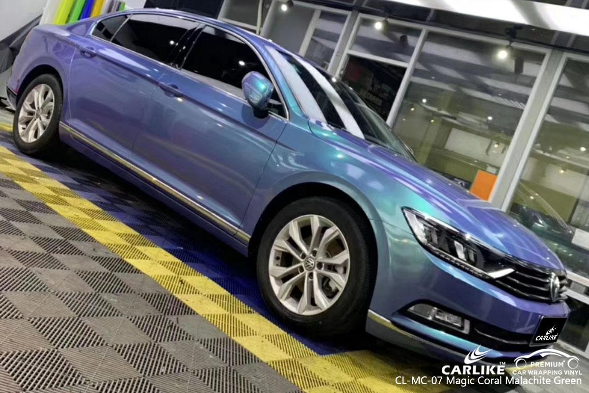 CARLIKE CL-MC-17 magic coral malachite green car wrap vinyl for Volkswagen