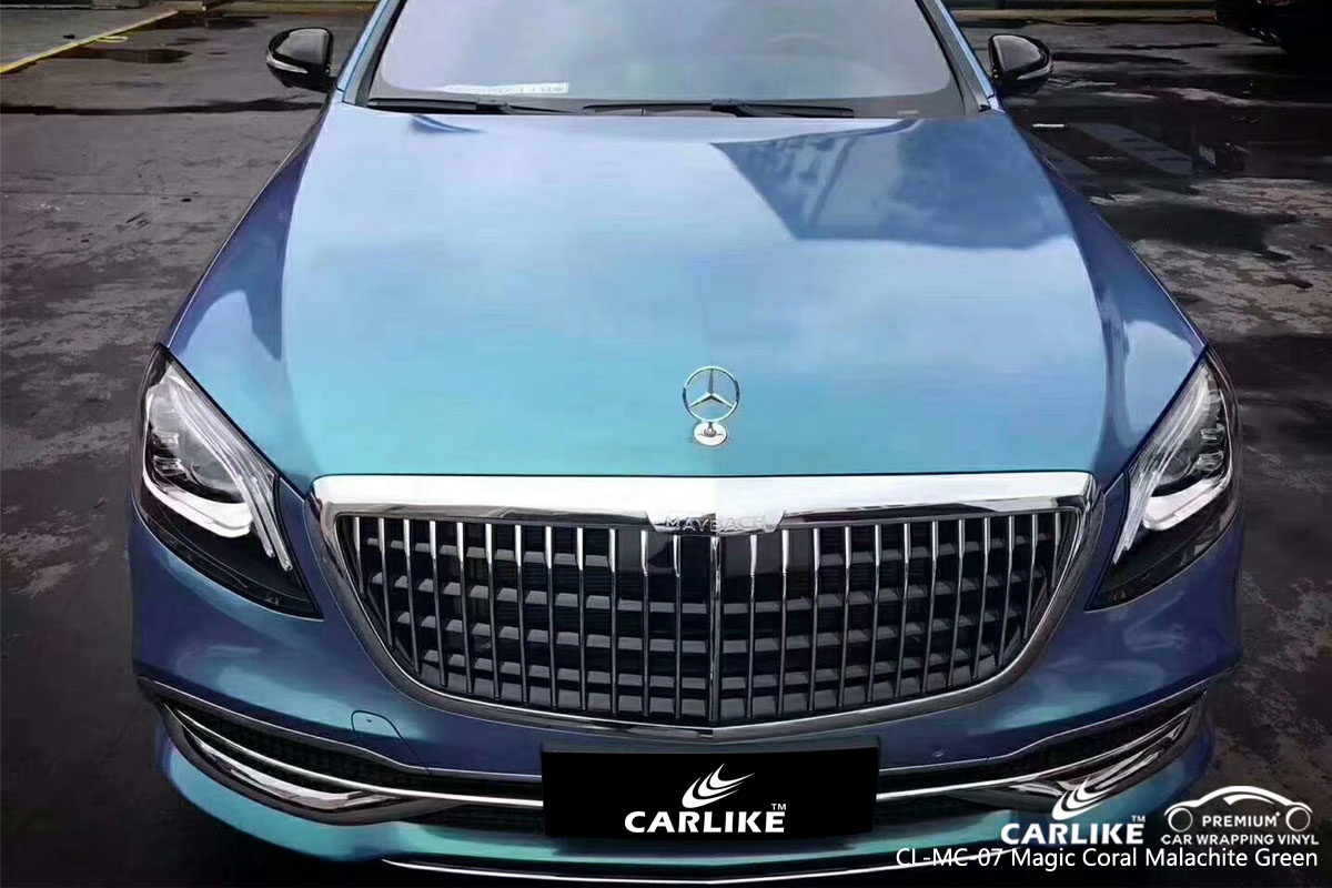 CARLIKE CL-MC-07 magic coral malachite green car wrap vinyl for Mercedes-Benz