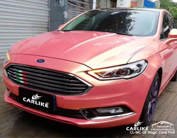CARLIKE CL-MC-08 magic coral pink car wrap vinyl for Ford